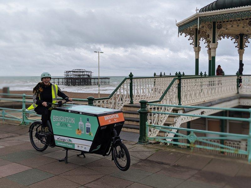 An image of Brighton Gin's e-cargo bike