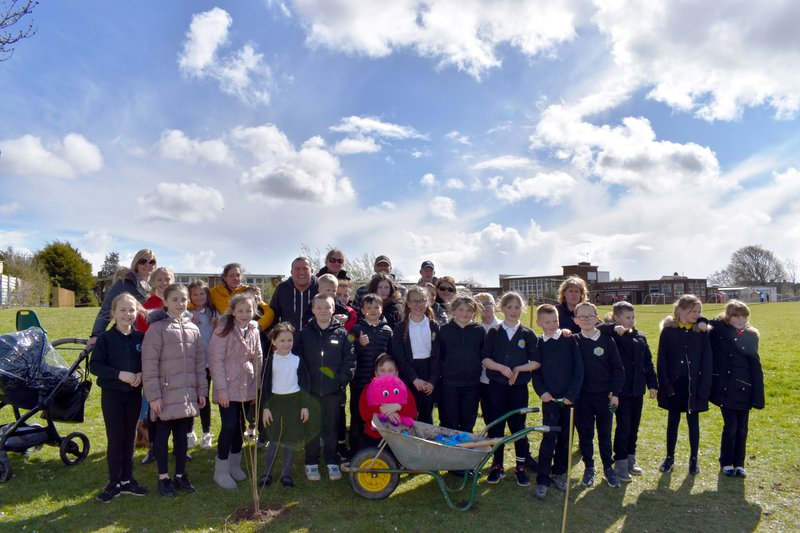 Chris Collins Colcot Primary planting