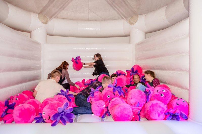 Octopus party bouncy castle