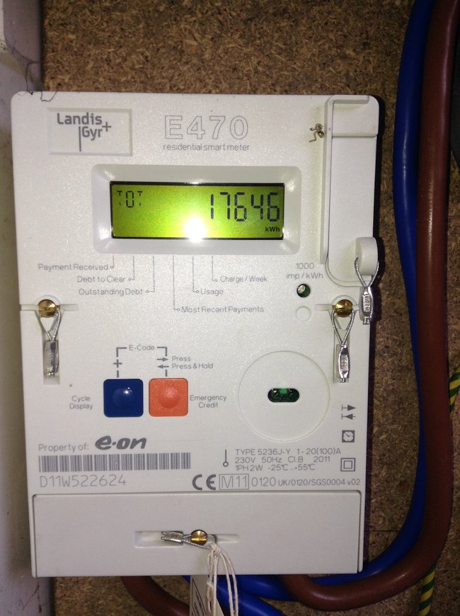 Electricity Meter Reading Electricity Meter Eon