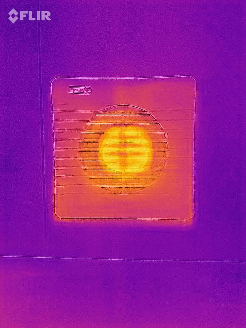 An image of an extractor fan left on