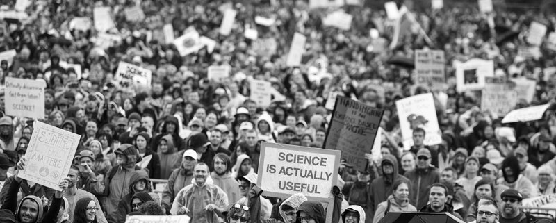 an image of an Earth Day March