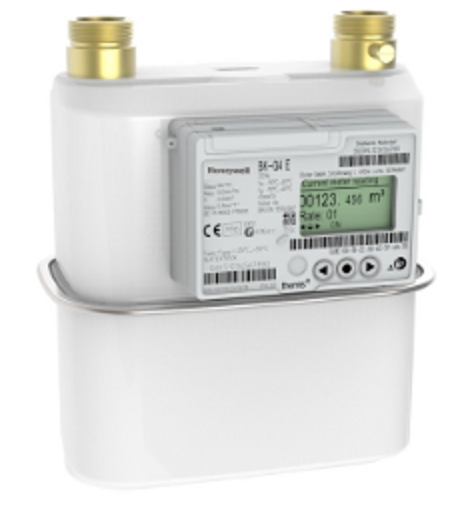 An image of a honeywell/elster smets2 gas meter
