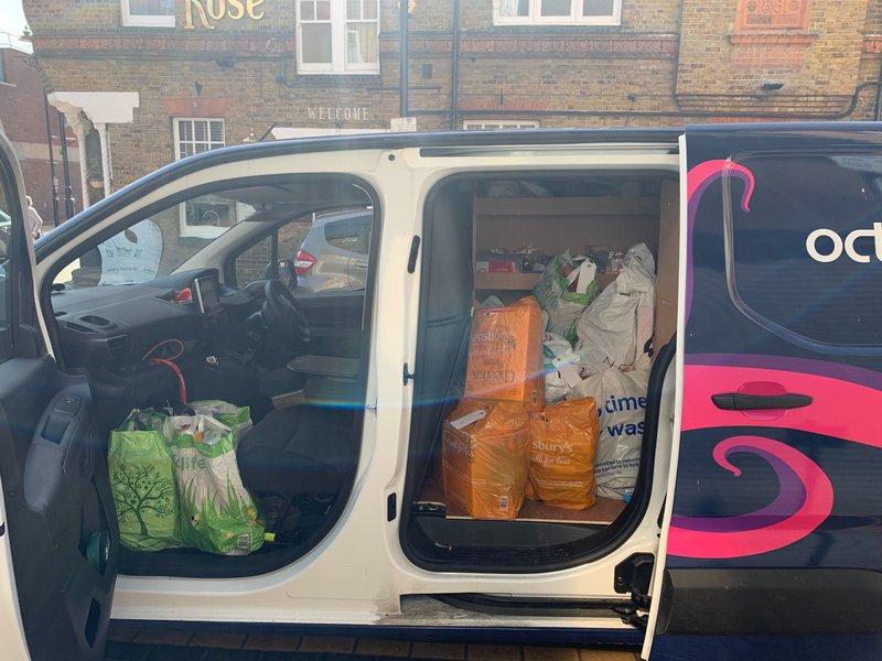 A octo-van full of food