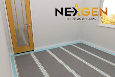 An image of nexgen on the floor of a room