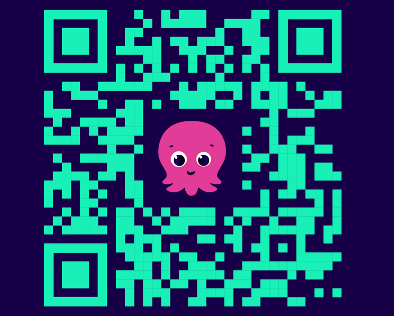 A qr code that customers can scan to access a visual augmented reality scene