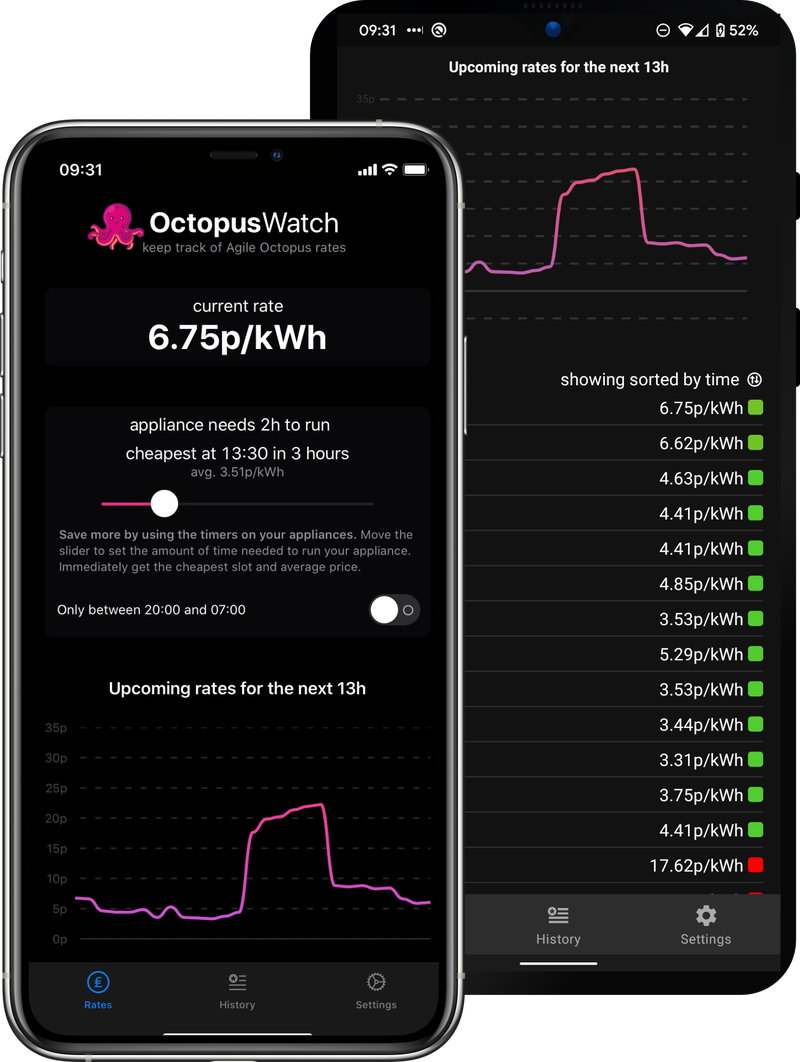 an image of octopus watch in dark mode