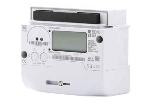 An image of an EDMI electric meter