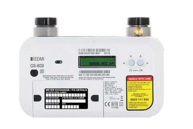 An image of an edmi gas meter