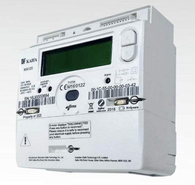 an image of a Kaifa MA120 SMETS2 Electric Meter