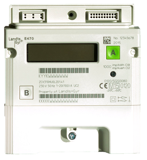 An image of a landis and gyr smart elecletricity meter