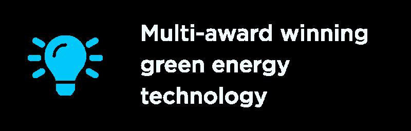 Multi-award winning green energy technology