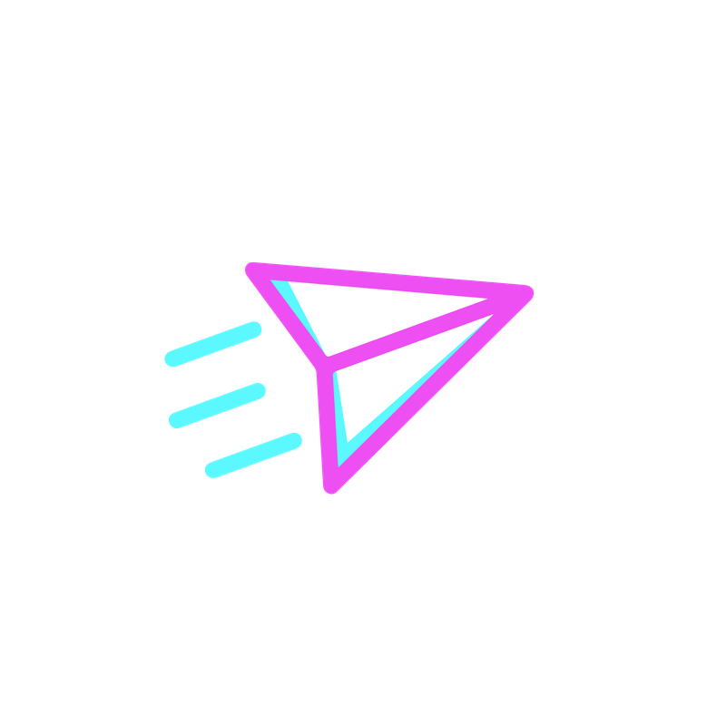 An icon of a paper plane flying