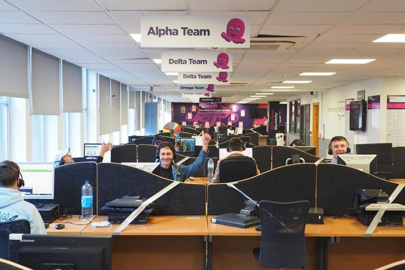 The Octopus Energy telephone sales team